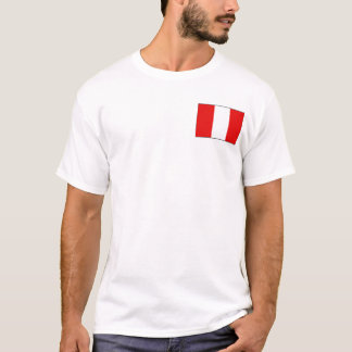 Peru Flag and Map T-Shirt