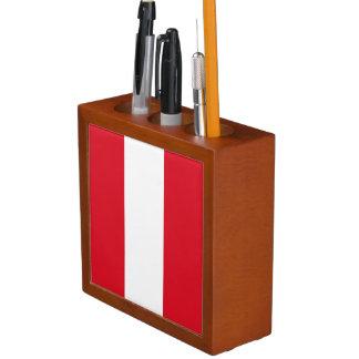 Peru Flag Desk Organizer