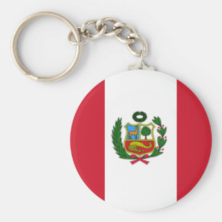 Peru flag keychain
