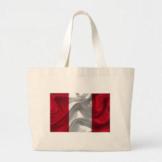 peru-Flag Large Tote Bag