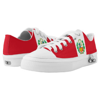 Peru Flag Low-Top Sneakers