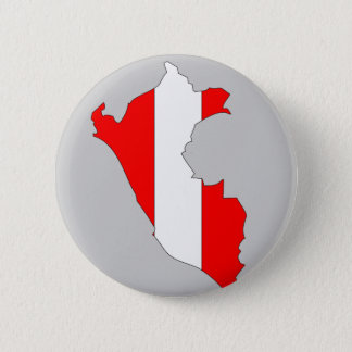 Peru flag map 2 inch round button