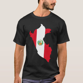 Peru Flag Map T-Shirt