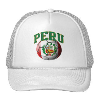 Peru Flag Soccer Ball Hat