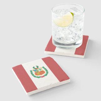 Peru Flag Stone Coaster