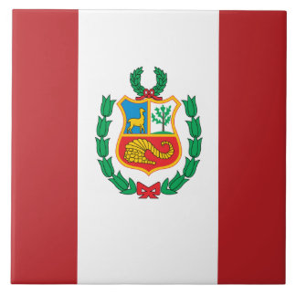 Peru Flag Tile