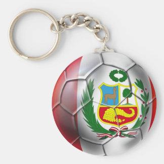Peru La Blanquirroja La Rojiblanca soccer ball Keychain