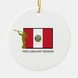 PERU LIMA EAST MISSION LDS CTR CERAMIC ORNAMENT