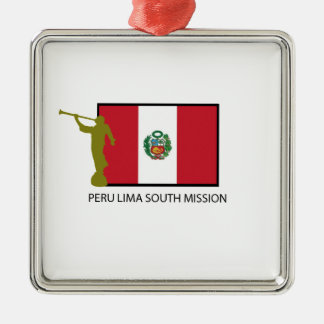 PERU LIMA SOUTH MISSION LDS CTR METAL ORNAMENT