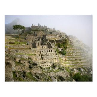 Peru, Machu Picchu. The ancient citadel of Machu Postcard
