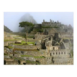 Peru, Machu Picchu. The ancient citadel of Postcard