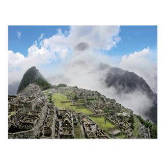 Peru, Machu Picchu, the ancient lost city of 4 Postcard
