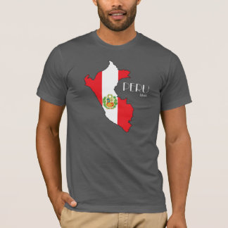 Peru Map Flag Shirt