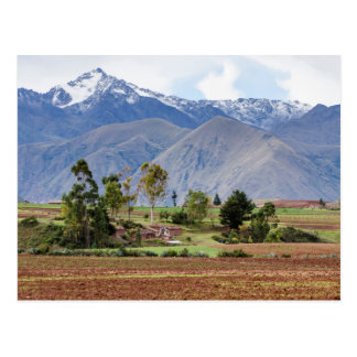 Peru, Maras. Landscape Above The Sacred Valley Postcard