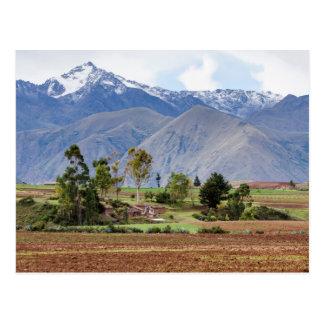 Peru, Maras. Landscape Above The Sacred Valley Postcard