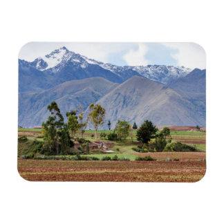 Peru, Maras. Landscape Above The Sacred Valley Rectangular Photo Magnet