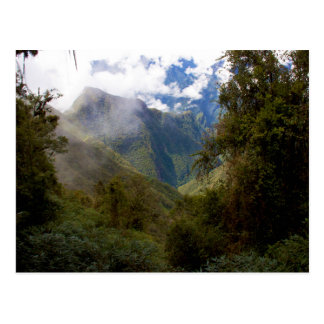 Peru Mountain Valley in the Clouds Postcard