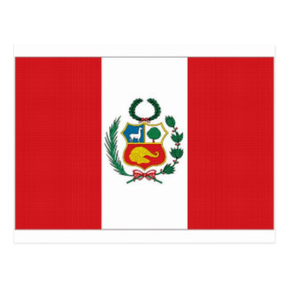 Peru National Flag Postcard