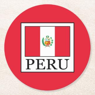Peru Round Paper Coaster