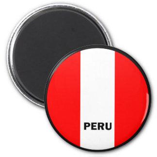 Peru Roundel quality Flag Magnet