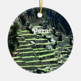 Peru Ruins Ceramic Ornament