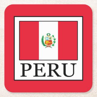 Peru Square Paper Coaster
