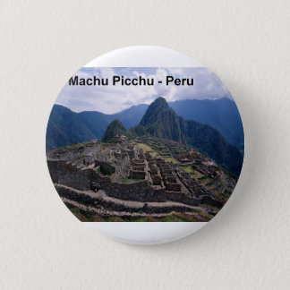 Peru The Ruins of Machu Picchu (St.K.) 2 Inch Round Button