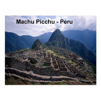 Peru The Ruins of Machu Picchu (St.K.) Postcard