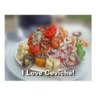 Peruvian Ceviche! Postcard
