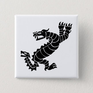 Peruvian Dragon 2 Inch Square Button