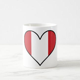 Peruvian Flag Heart Coffee Mug