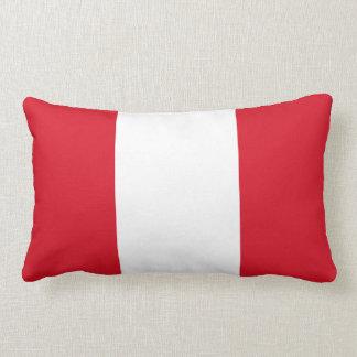 Peruvian flag pillow
