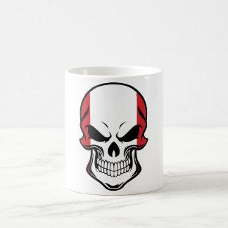 Peruvian Flag Skull Coffee Mug