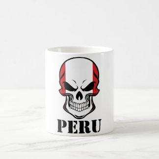 Peruvian Flag Skull Peru Coffee Mug