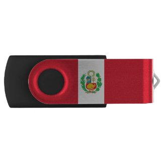 Peruvian flag swivel USB 2.0 flash drive