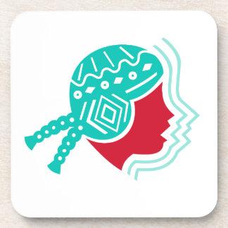 Peruvian Girl Hat Side Icon Coaster