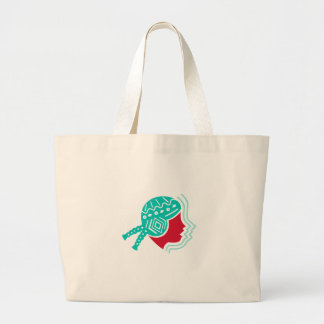 Peruvian Girl Hat Side Icon Large Tote Bag