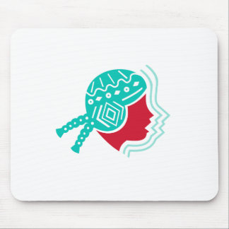 Peruvian Girl Hat Side Icon Mouse Pad