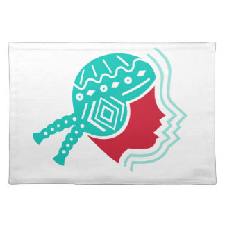 Peruvian Girl Hat Side Icon Placemat