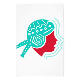 Peruvian Girl Hat Side Icon Stationery