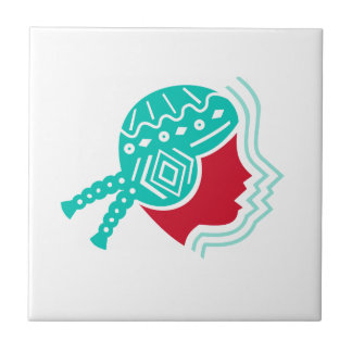 Peruvian Girl Hat Side Icon Tile