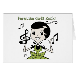 Peruvian Girls Rock Card