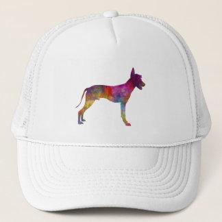 Peruvian Hairless Dog in watercolor Trucker Hat
