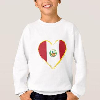Peruvian Heart Shape Flag with Shield Sweatshirt