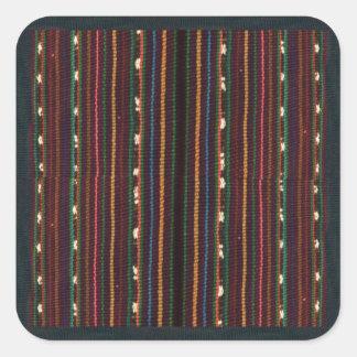 Peruvian Inca Weaving Design Stripes Square Sticker