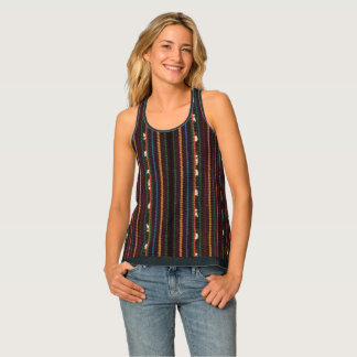 Peruvian Inca Weaving Design Stripes Tank Top