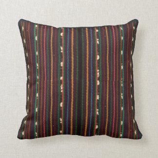Peruvian Inca Weaving Design Stripes Throw Pillow