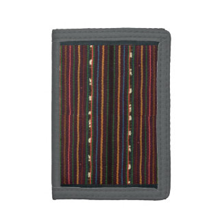 Peruvian Inca Weaving Design Stripes Trifold Wallets