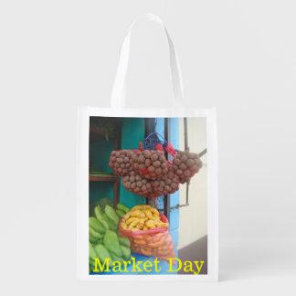 Peruvian Market on the Corner-Favorite Mercado Reusable Grocery Bag
