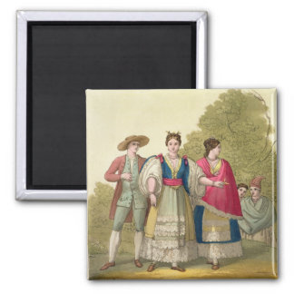 Peruvian Men and Women in Traditional Costume (col Refrigerator Magnets